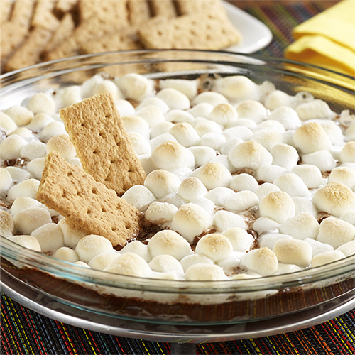 Chocolate Pudding S'mores Dip