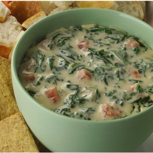 Spicy Spinach Queso Dip