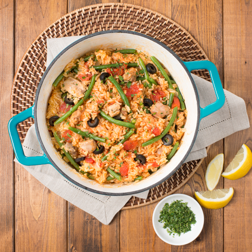 Chicken Paella With French Green Beans Ready Set Eat