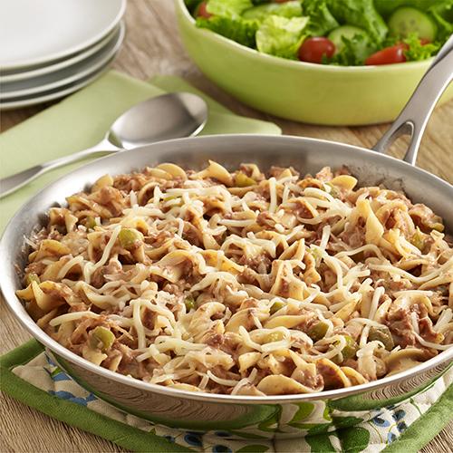 Corned Beef Reuben Noodle Skillet