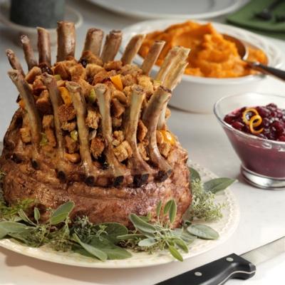 how to cook rack of lamb crown roast