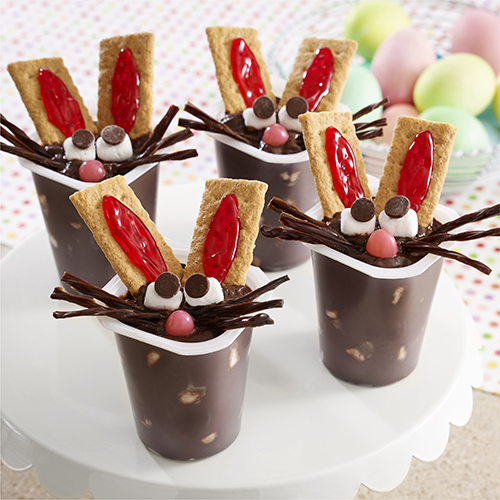 Chocolate Bunny Pudding Cups