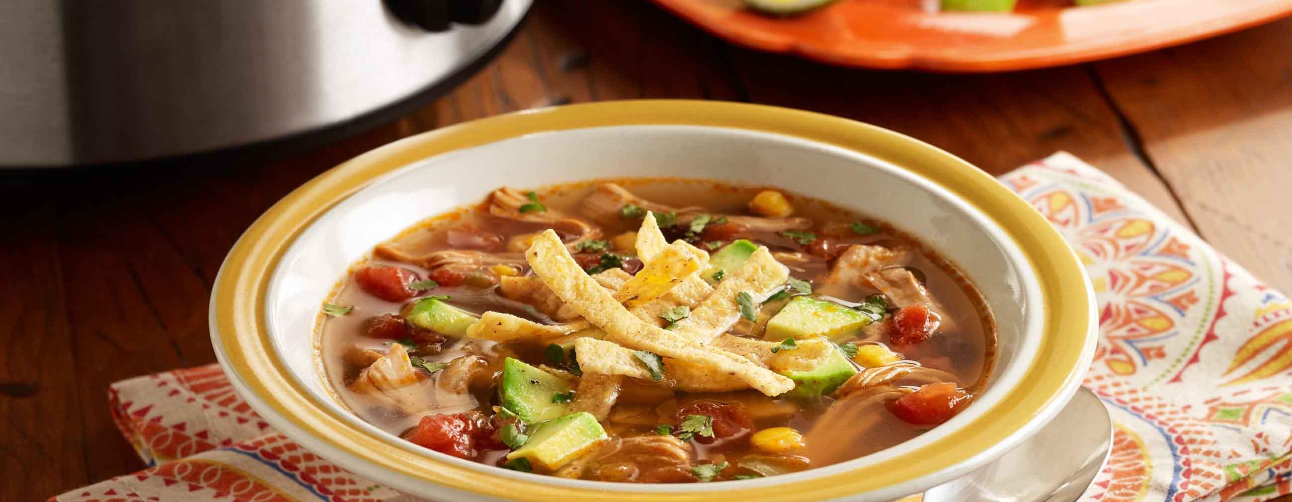 Slow Cooker Chicken Tortilla Soup Ready Set Eat