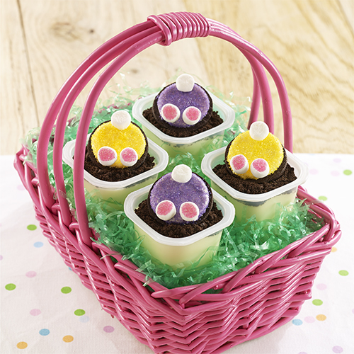Bunny Tail Pudding Cups