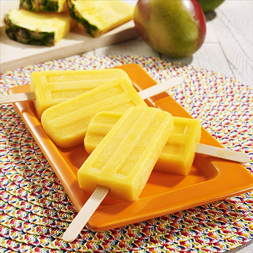 Mango Pineapple Ice Pops