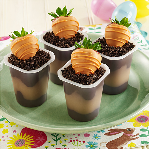 Carrot in Dirt Dessert Pudding Cups