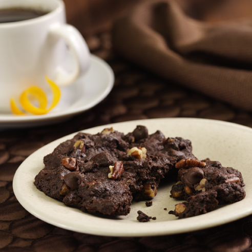 Dark Chocolate-Chocolate Chip Cookies