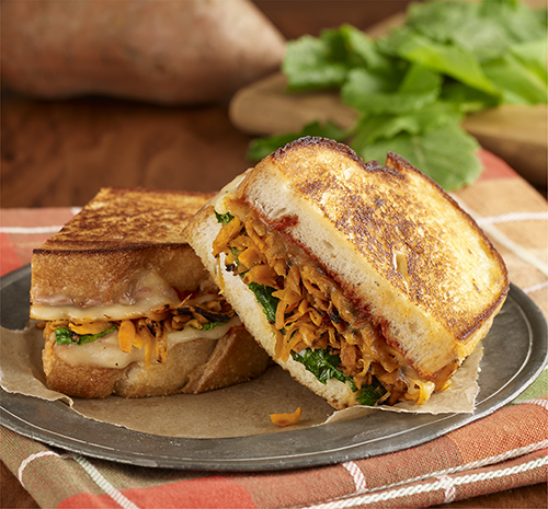 Sweet potato and kale grilled cheese sandwiches ready - Comida rapida y sencilla ...