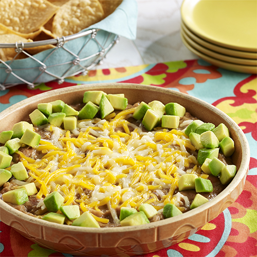 Refried Bean Dip with Avocado