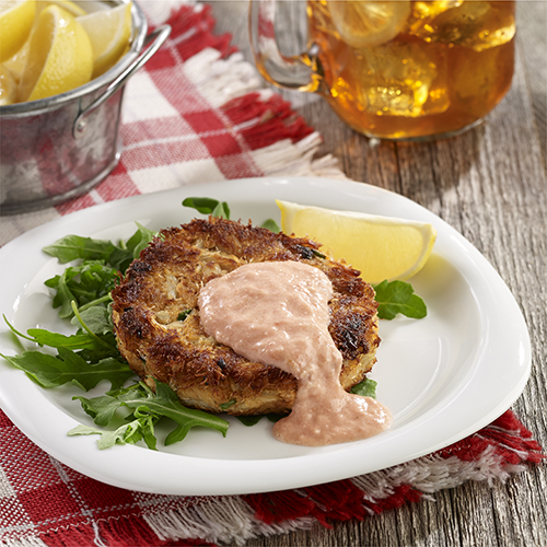 Crab Cakes with Spicy Tomato Mayo
