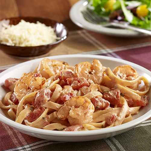 Spicy Shrimp Pasta with Tomato Cream Sauce