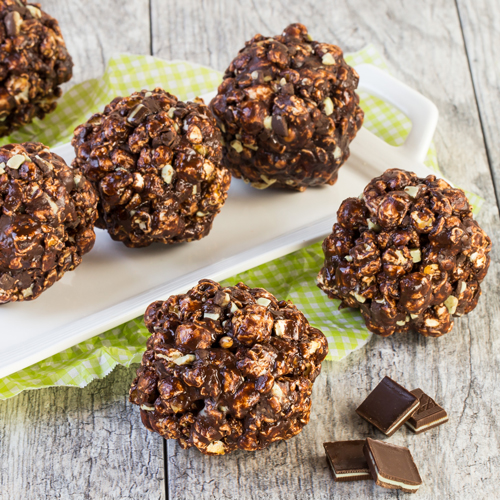 Chocolate Mint Popcorn Balls | Ready Set Eat