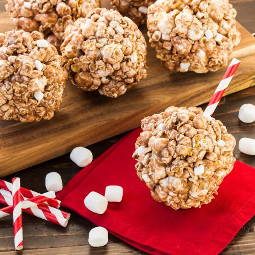 Hot Cocoa Popcorn Balls | Ready Set Eat