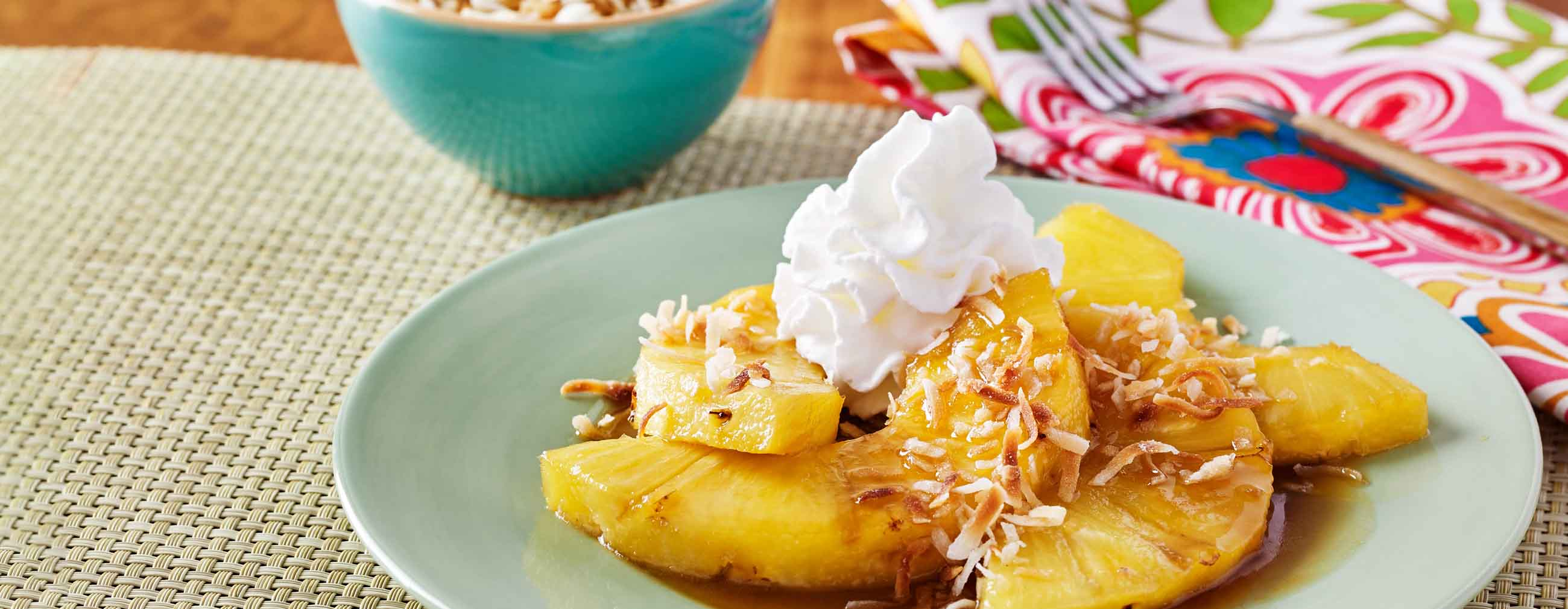 Caramelized Pineapple with Toasted Coconut