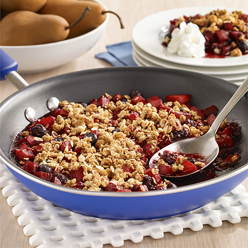 Skillet Fruit Crisp with Gluten Free Granola