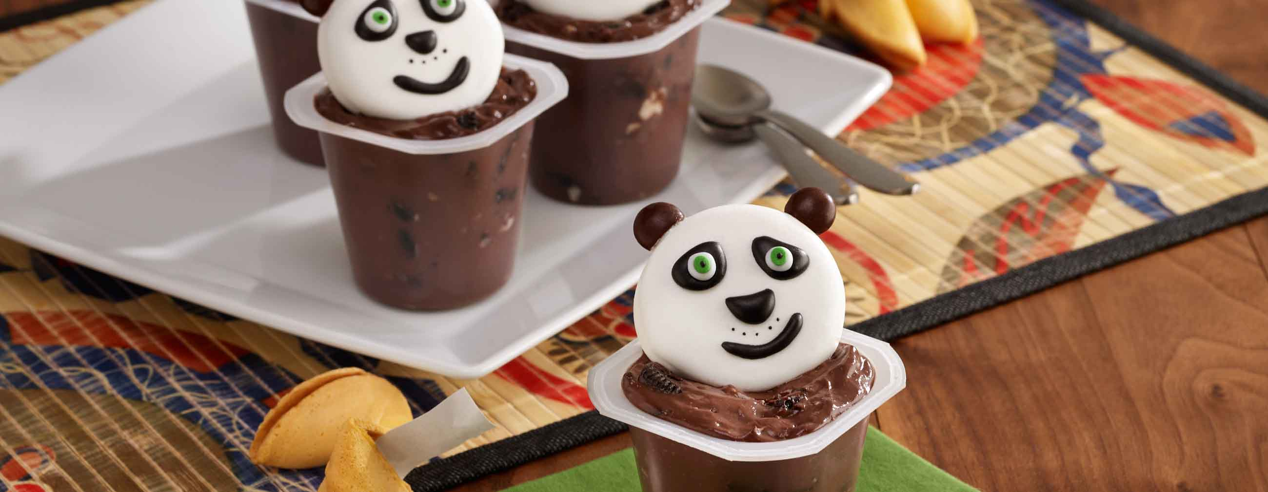 Panda Pudding Cups