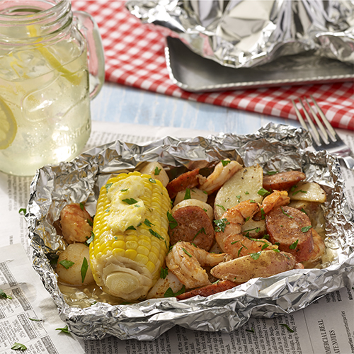 Grilled Seafood Boil Foil Packets Ready Set Eat