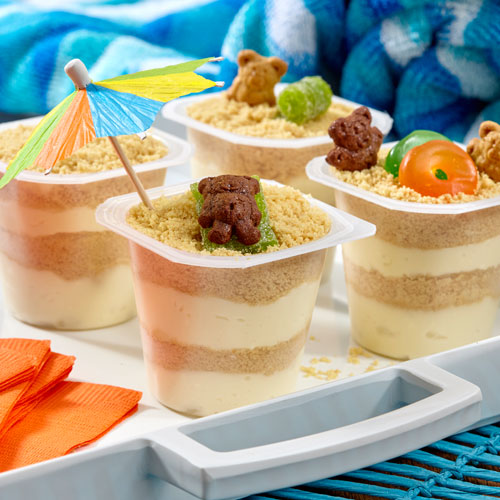 Summer Sand Pudding Cups