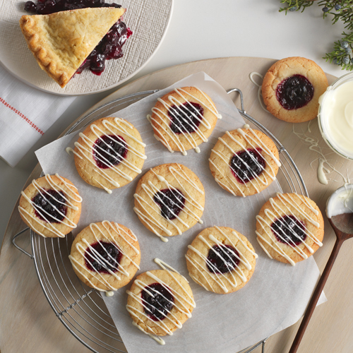 Blueberry Pie Thumbprint Cookies