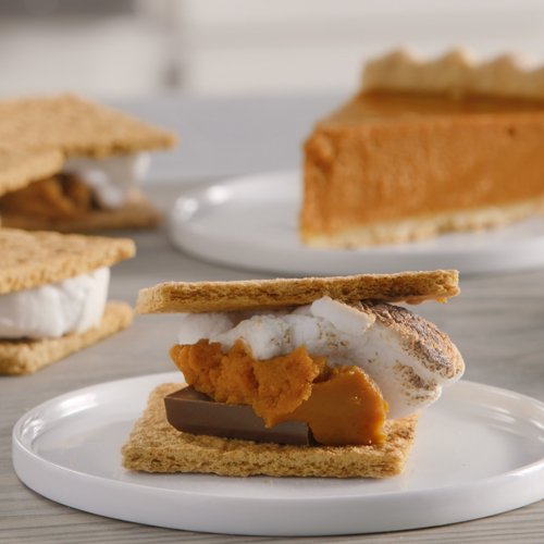 Pumpkin Pie Broiler S'mores