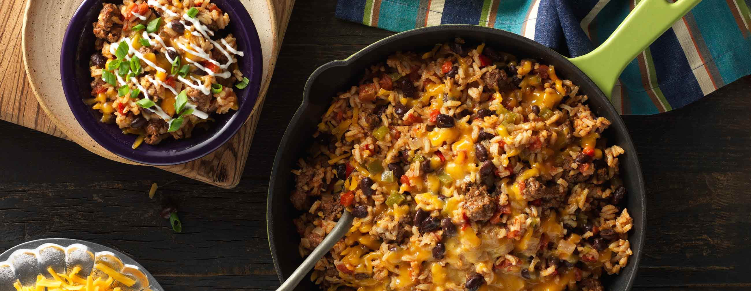 Spicy Taco Rice Skillet