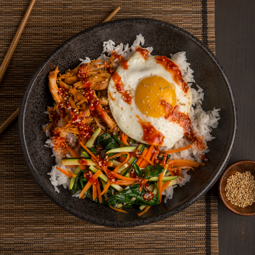 Korean Turkey Bibimbap Bowl Ready Set Eat
