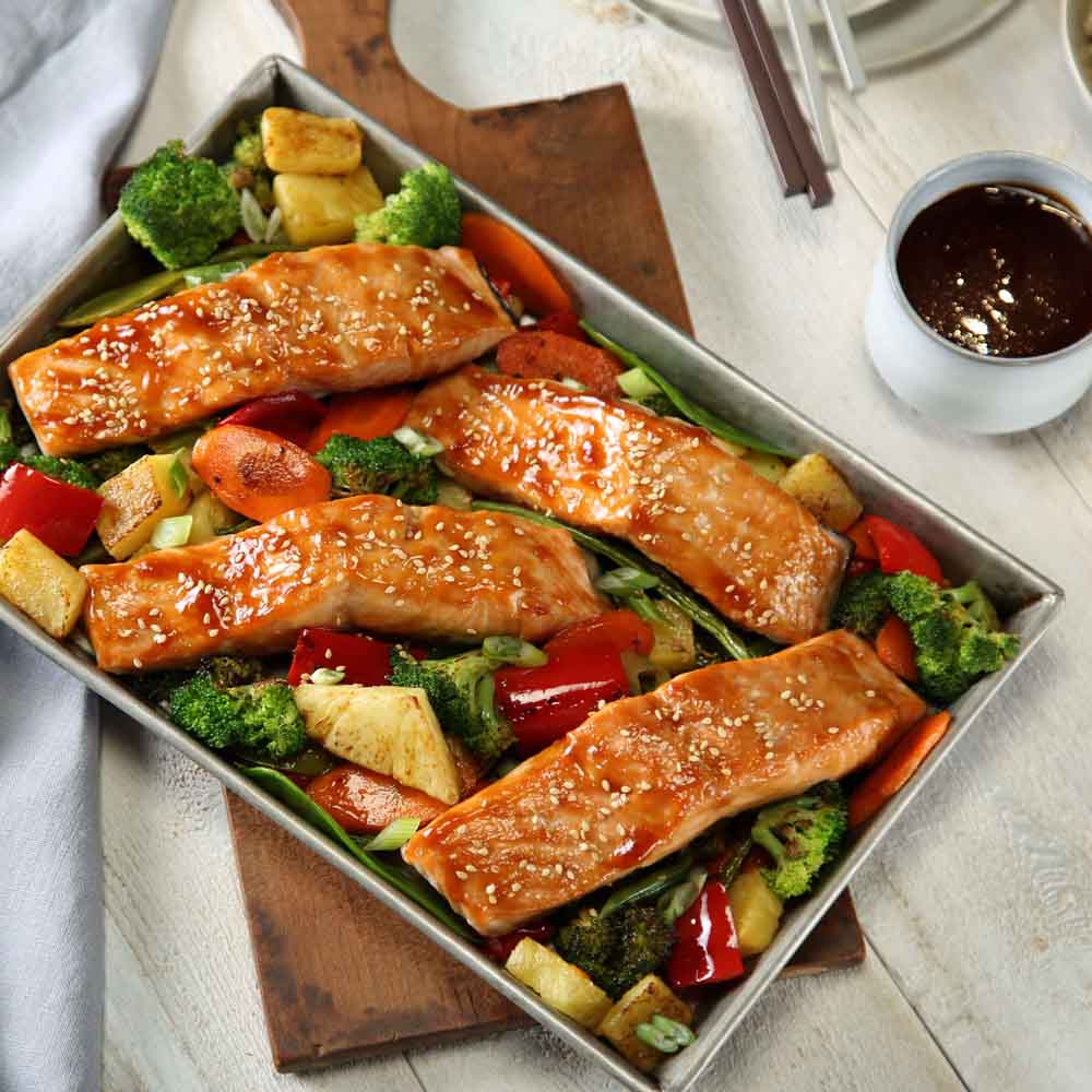 Teriyaki Salmon Sheet Pan Dinner