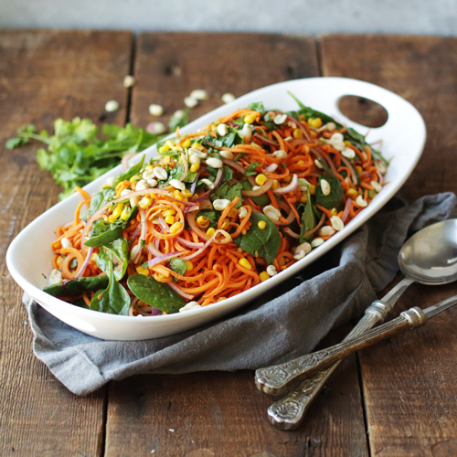 Spicy Sweet Potato Noodle Salad