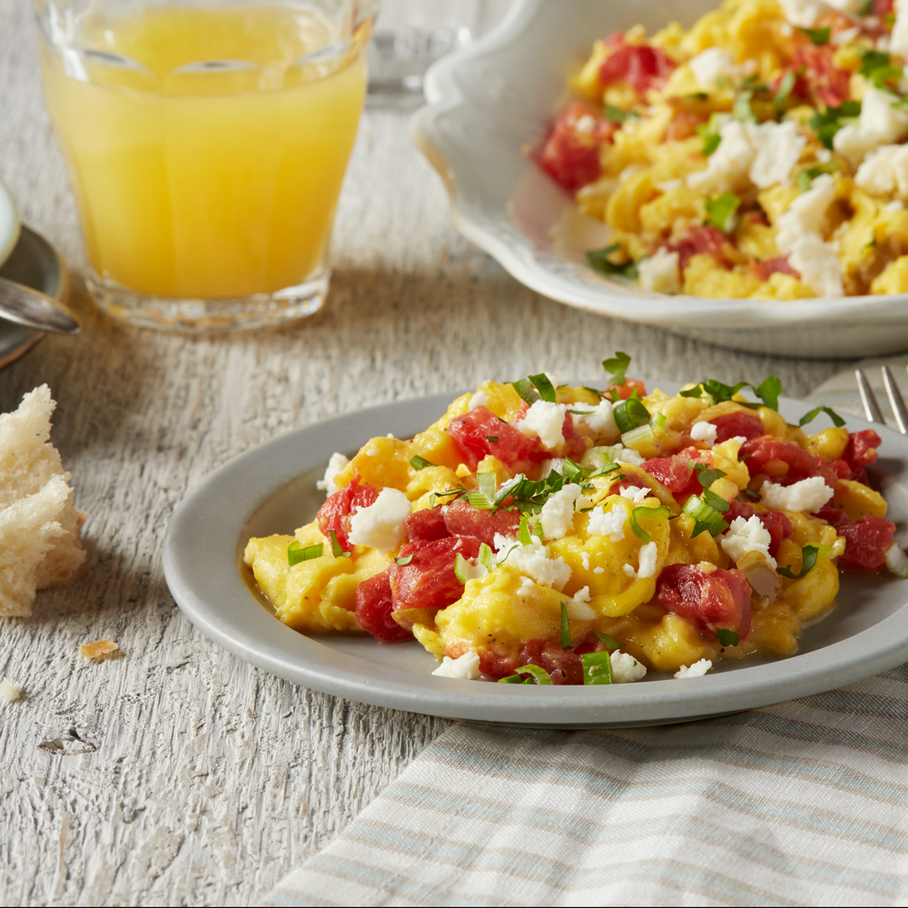Spicy Scrambled Eggs with Tomatoes & Chiles