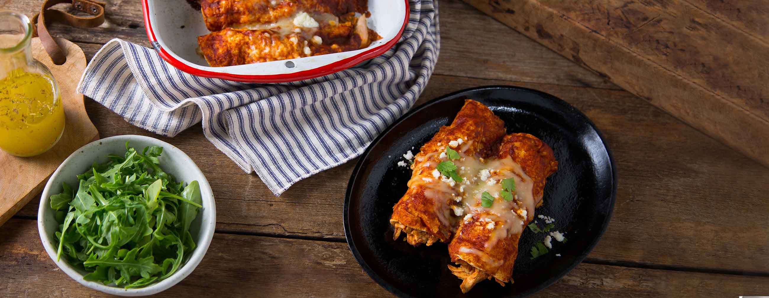 Chicken & Red Chile Enchiladas