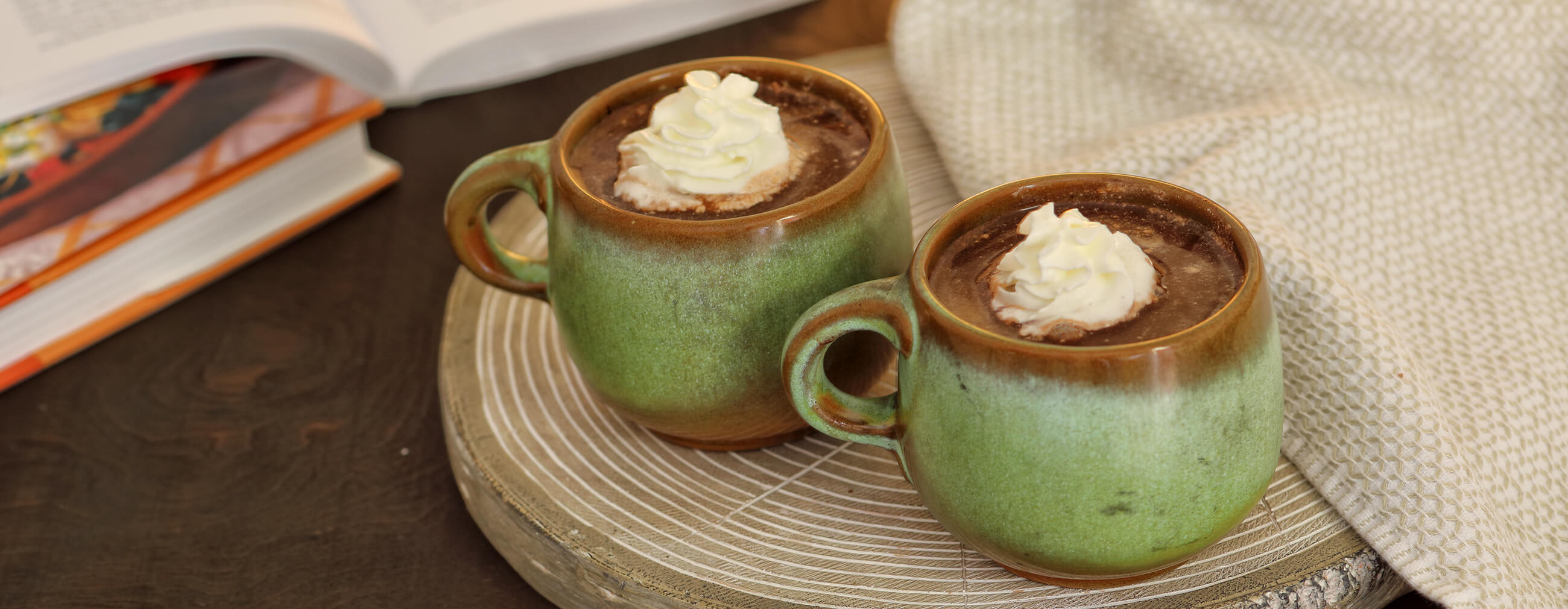 Dark Chocolate Peppermint Spiked Hot Cocoa