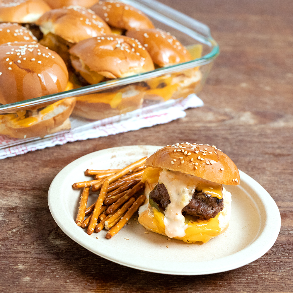 Pull Apart Cheeseburger Sliders