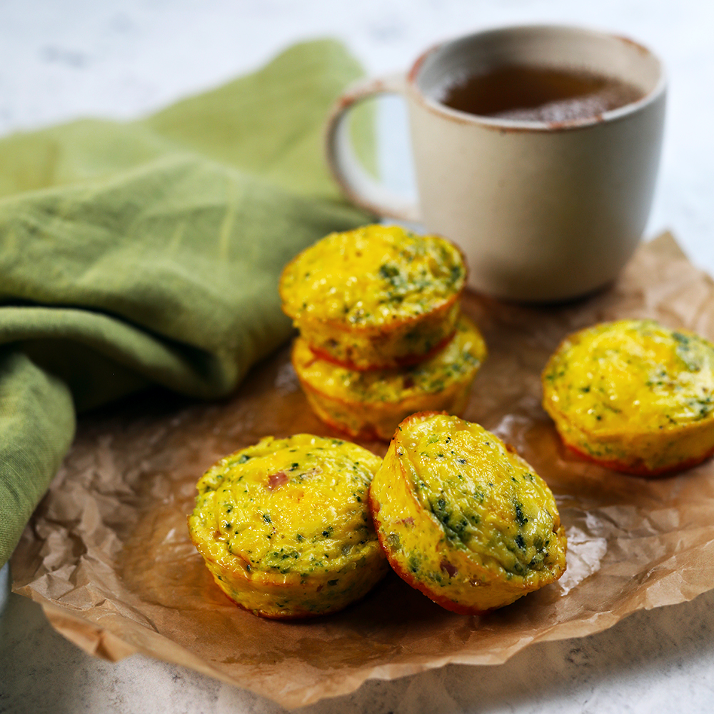 Ham, Broccoli and Cheddar Egg Muffins