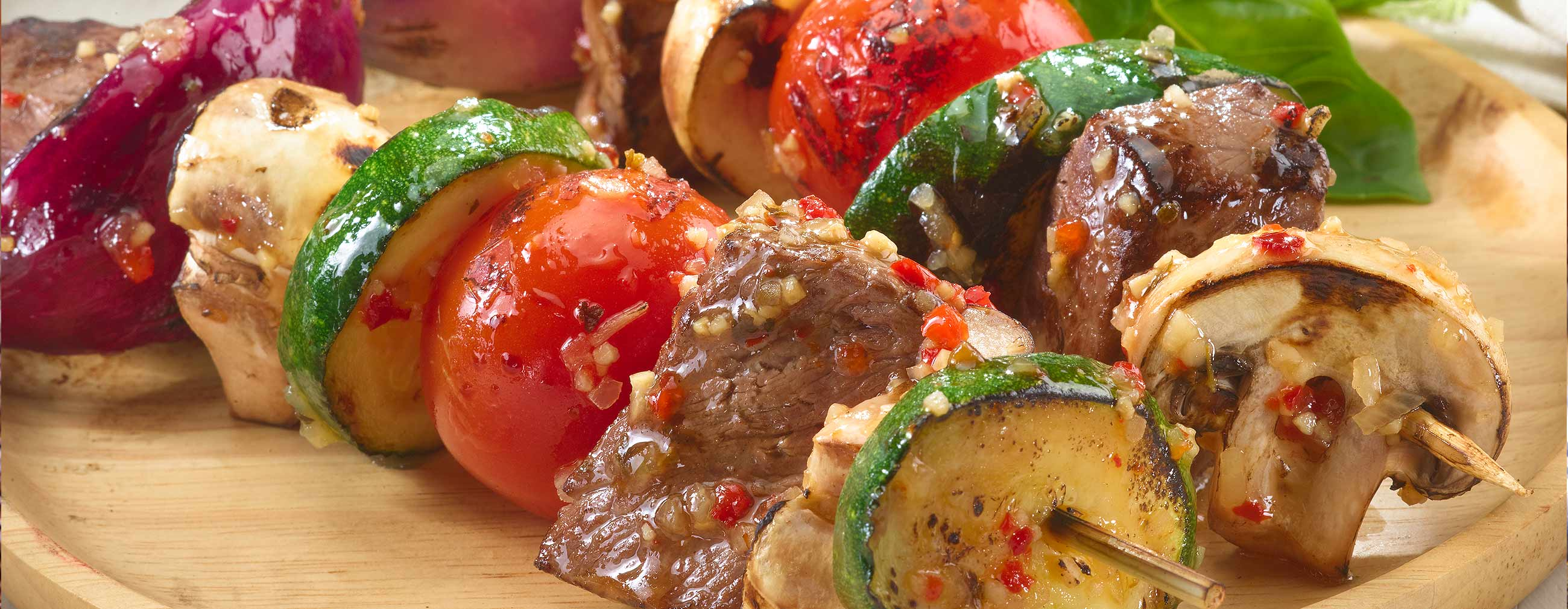 Italian Beef Vegetable Kabobs