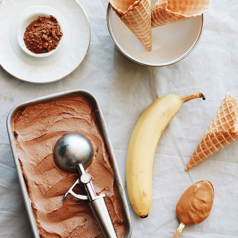Chocolate Peanut Butter Dairy-Free Nice Cream