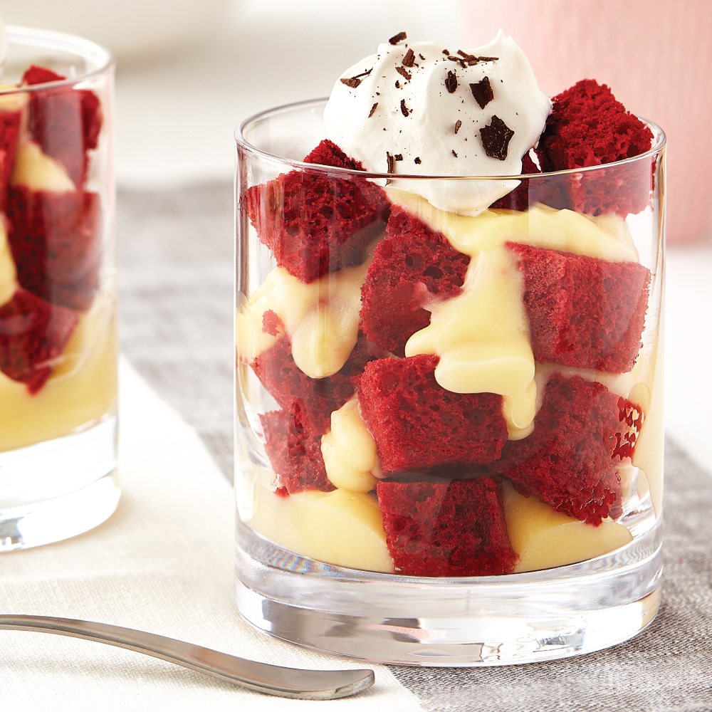 Red Velvet Trifle Cups