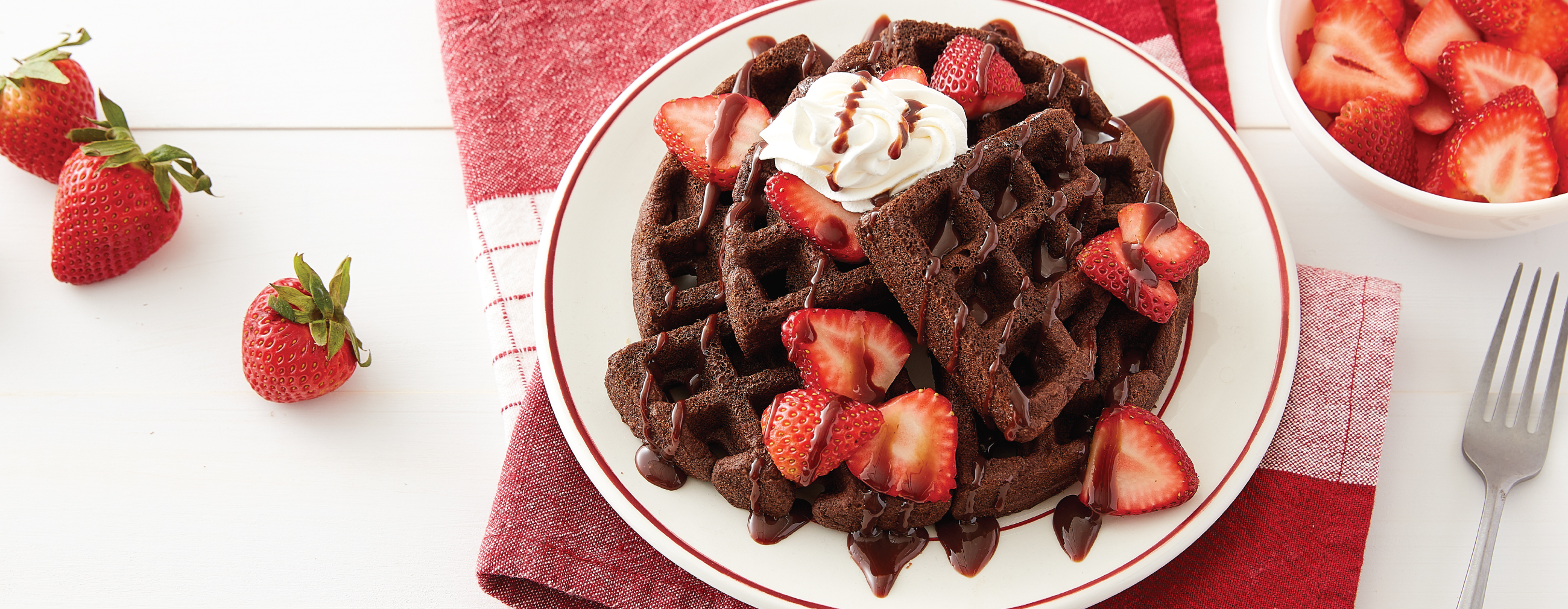 Chocolate Cake Waffles