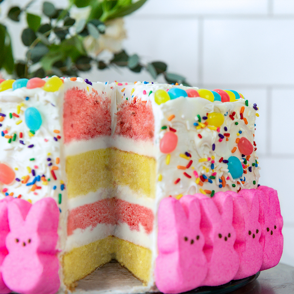 Peeps Easter Bunny Rainbow Cake Ready Set Eat