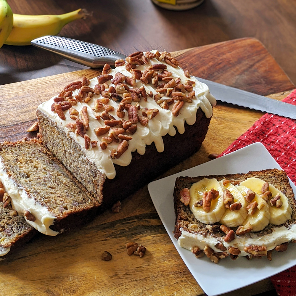 Banana Bread with Cream Cheese Frosting