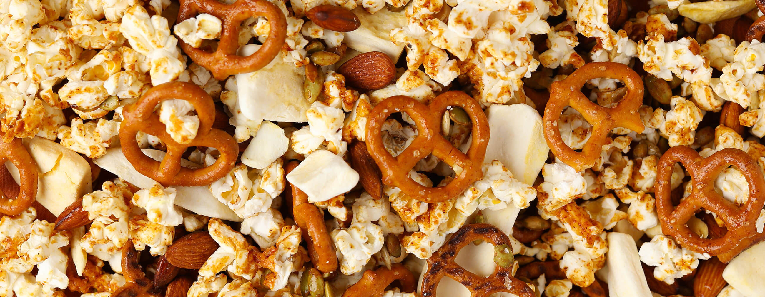 Sweet and Spicy Popcorn Trail Mix